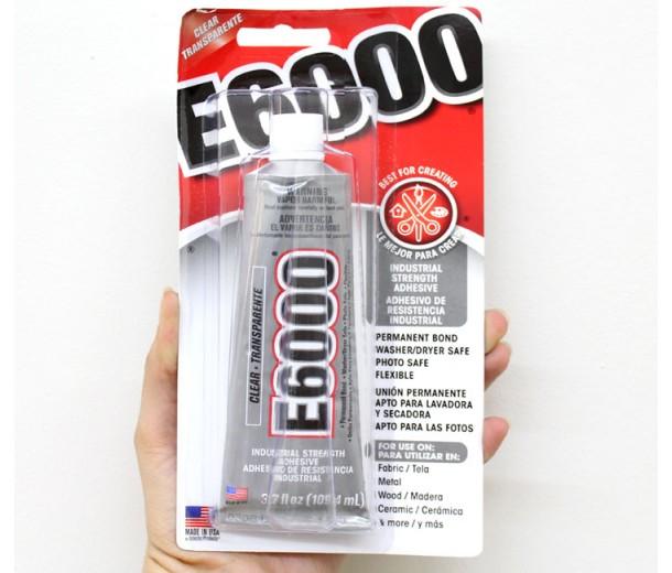 E6000 Permanent Craft Glue Adhesive, 3.7 Oz Tube