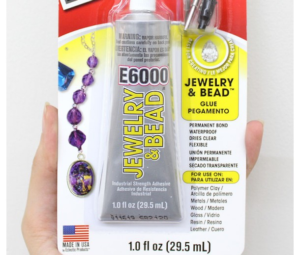 E6000 Jewelry and Bead Glue Adhesive with Applicator Tips, 1 Oz Tube