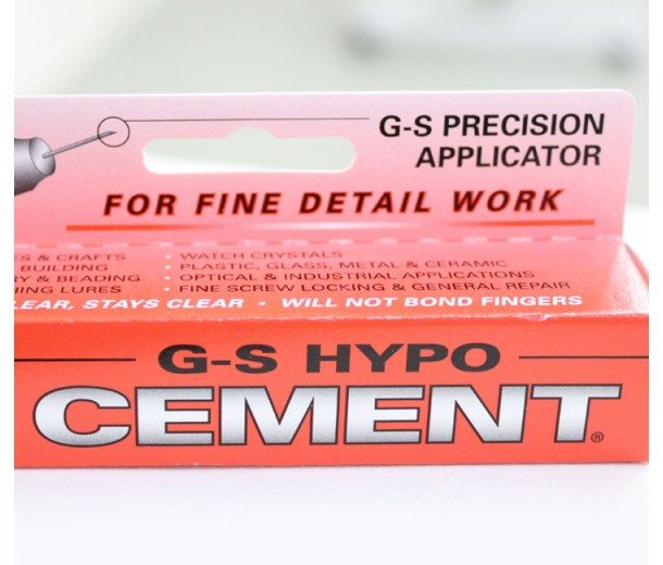G-S Hypo Cement Adhesive with Precision Applicator, 9ml Tube