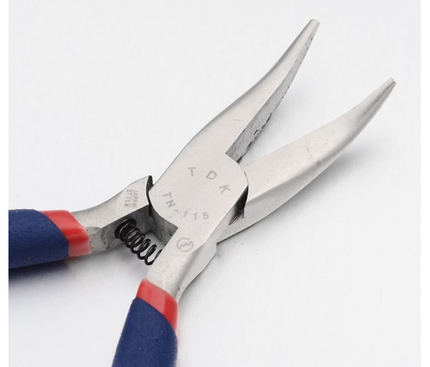 Chain Nose Bent Pliers for a Variety of Tasks, Blue and Red