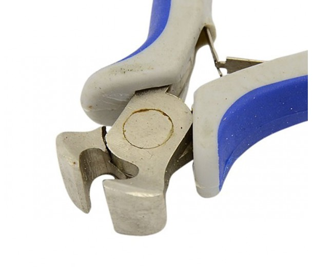 End-Cutting Pliers for Wire and Soft Metals, Blue and Grey
