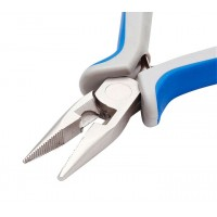 2-in-1 Jewelry Pliers: Chain Nose and Cutting, Blue and Grey