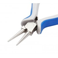 Round Nose Pliers for Making Loops, Blue and Grey