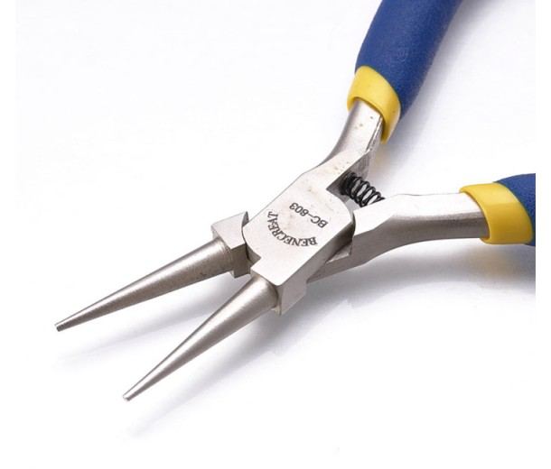 Round Nose Pliers for Making Loops, Blue and Yellow