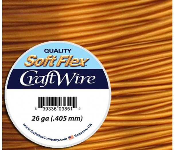 26 Gauge Bronze Soft Flex Craft Wire, 30 Yard Spool