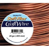 26 Gauge Non-Tarnish Antique Copper Soft Flex Craft Wire, 30 Yard Spool