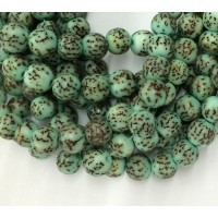 Dyed Salwag Beads, Teal, 10mm Round