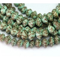 Dyed Salwag Beads, Teal, 10x6mm Saucer