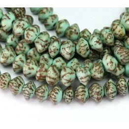 Dyed Salwag Beads, Teal, 10x6mm Saucer