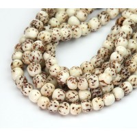 Salwag Beads, Natural, 6mm Round