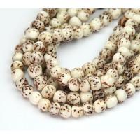Salwag Beads, Natural, 6mm Round
