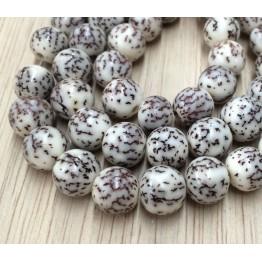 Salwag Beads, Natural, 10mm Round