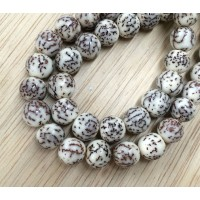Salwag Beads, Natural, 8mm Round