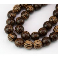 Patikan Wood Beads, Brown, 12mm Round..