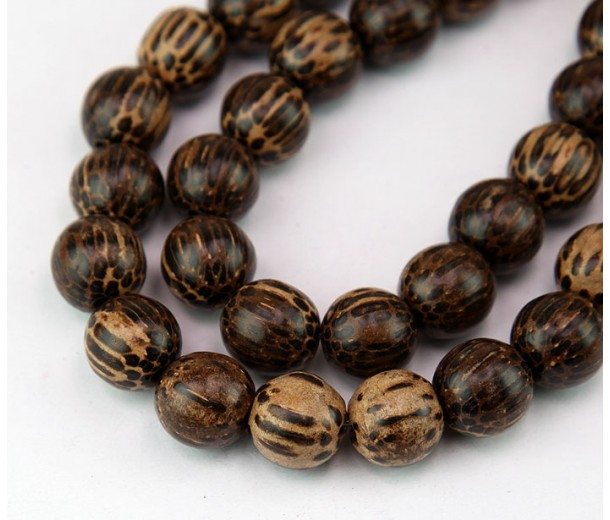 Patikan Wood Beads, Brown, 12mm Round