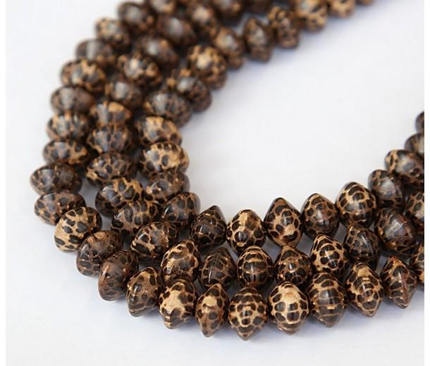Patikan Wood Beads, Brown, 10x6mm Saucer
