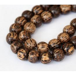 Patikan Wood Beads, Brown, 10mm Round