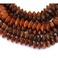 Bayong Wood Beads, Brown, 8x5mm Saucer