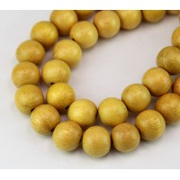 Jackfruit Wood Beads, 12mm Round
