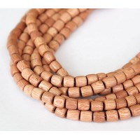 Rosewood Beads, Light Beige, 6x6mm Tube