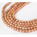 Rosewood Beads, Light Beige, 6x6mm Tube