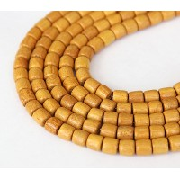 Jackfruit Wood Beads, 6x6mm Tube