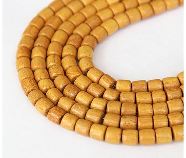 Jackfruit Wood Beads, 6x6mm Tube