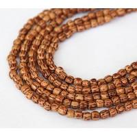 Palmwood Beads, Brown & Cream, 4-5mm Round