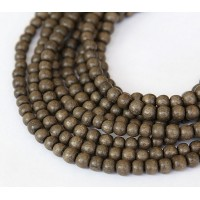 Greywood Beads, Grey Brown, 4-5mm Round