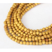 Jackfruit Wood Beads, 4-5mm Round