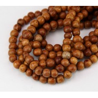 -Bayong Wood Beads, Brown, 6mm Round