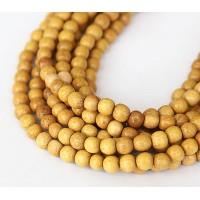 Jackfruit Wood Beads, 5-6mm Round