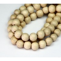 Wood Beads, Beige, 8mm Round