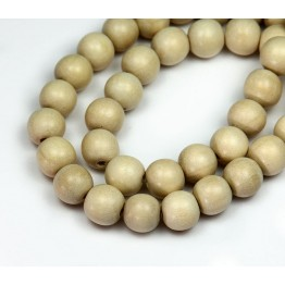 Wood Beads, White, 10mm Round