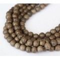 Greywood Beads, Grey, 8mm Round