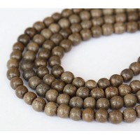 Greywood Beads, Grey, 6-7mm Round