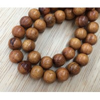 Robles Wood Beads, Brown, 12mm Round