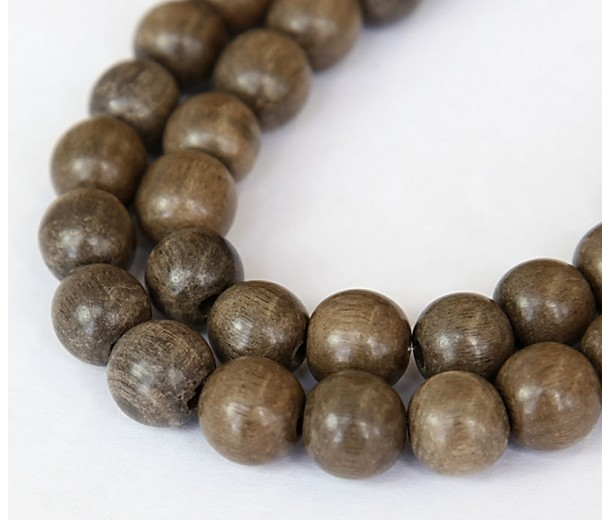 Greywood Beads, Grey, 10mm Round