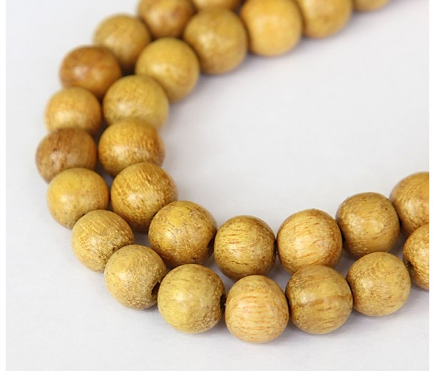 Jackfruit Wood Beads, 10mm Round