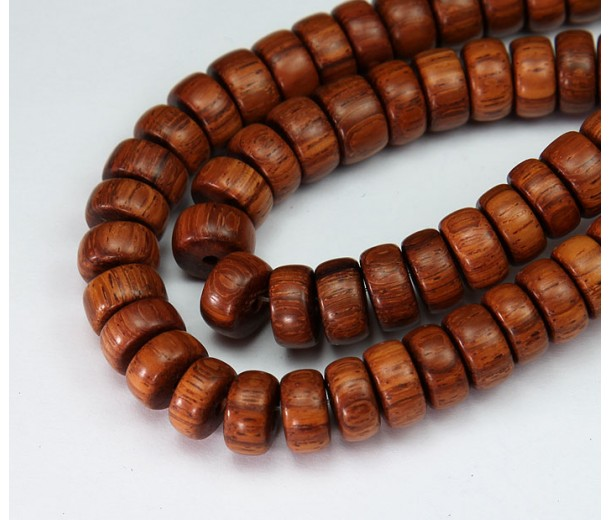 Bayong Wood Beads, Brown, 8x4mm Pucalet