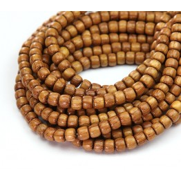Bayong Wood Beads, Light Brown, 5x4mm Pucalet