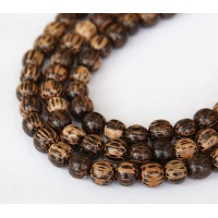 Patikan Wood Beads, Brown, 8mm Round