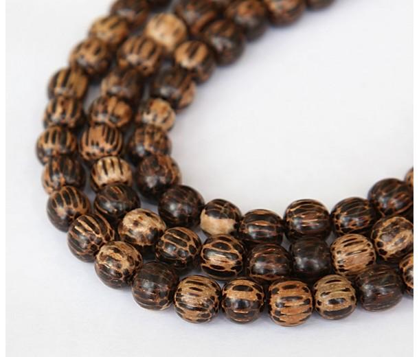 Patikan Wood Beads, Brown, 8mm Round