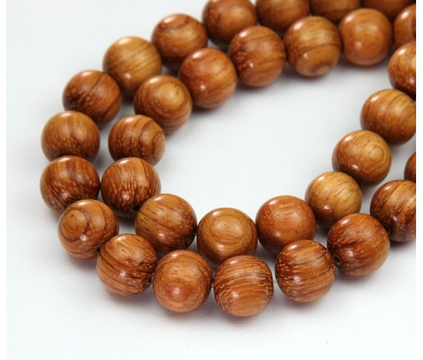 Bayong Wood Beads, Brown, 10mm Round