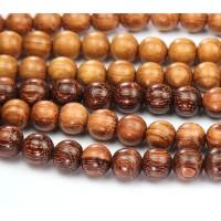 Bayong Wood Beads, Brown, 8mm Round