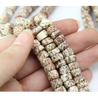 Salwag Beads, Natural, 8x5mm Pucalet