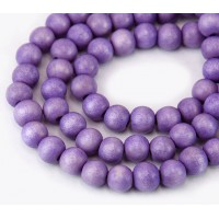 Dyed Wood Beads, Light Purple, 8mm Round