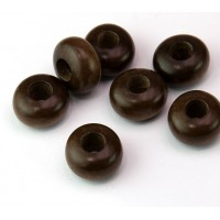 Greywood Beads, Brown, 14x8mm Rondelle, 5mm Hole