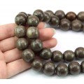 Greywood Beads, Brown, 15mm Round