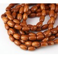 Bayong Wood Beads, Brown, 9x6mm Oval